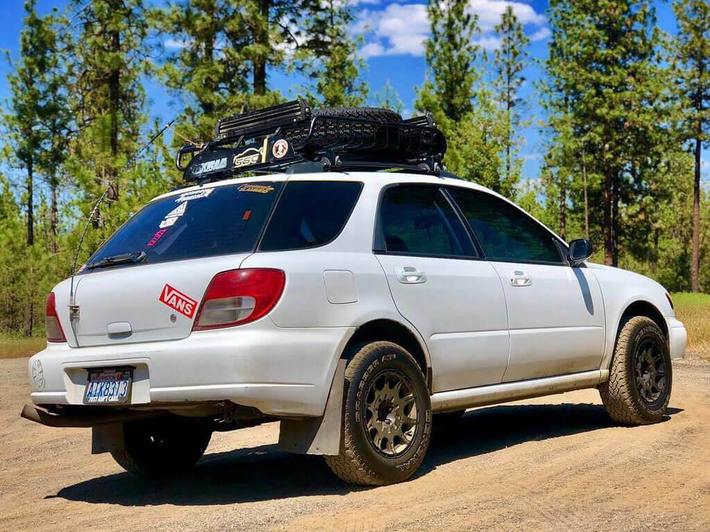 Subaru Impreza WRX with offroad modifications
