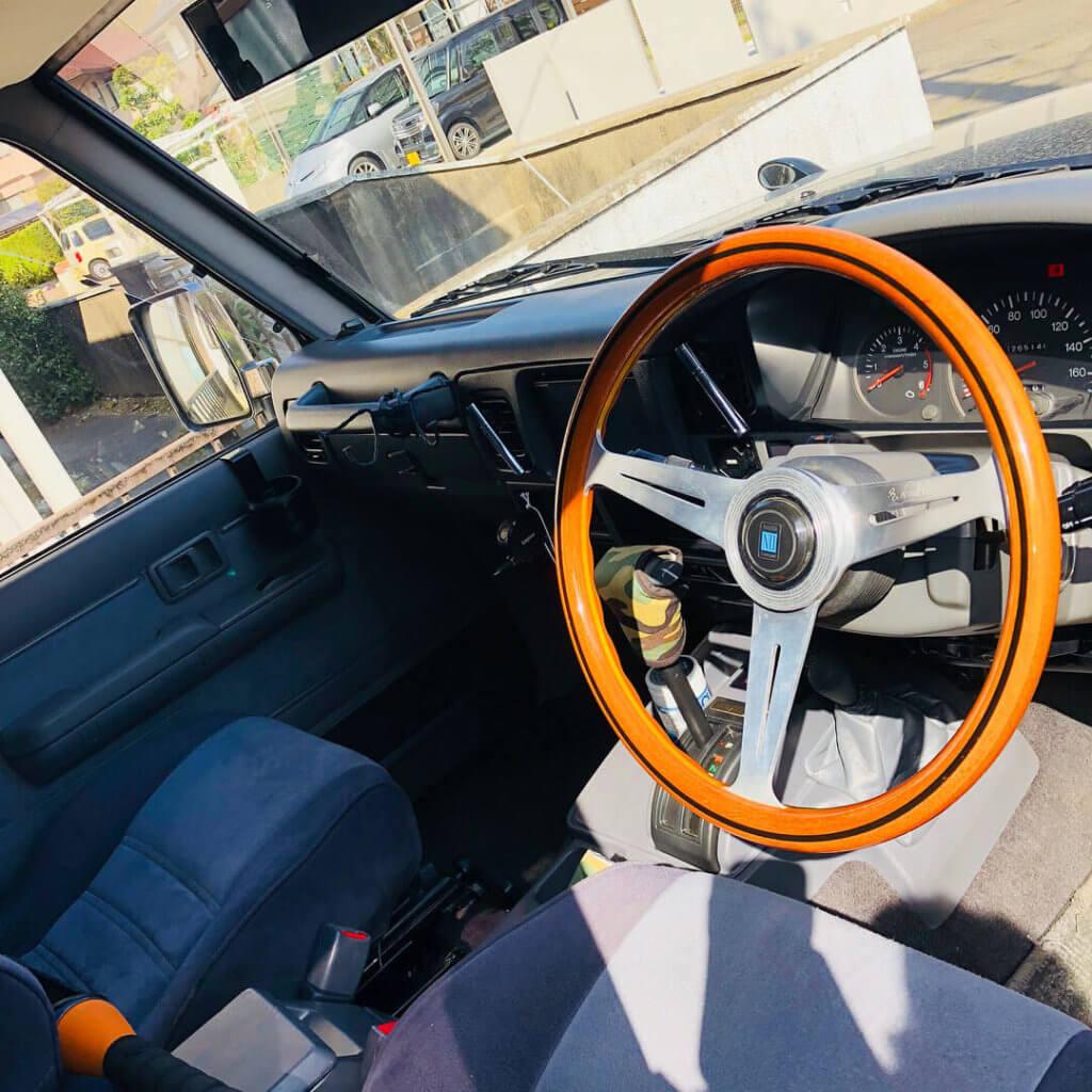 Toyota Land Cruiser Prado 78 RHD interior with Nardi Steering Wheel