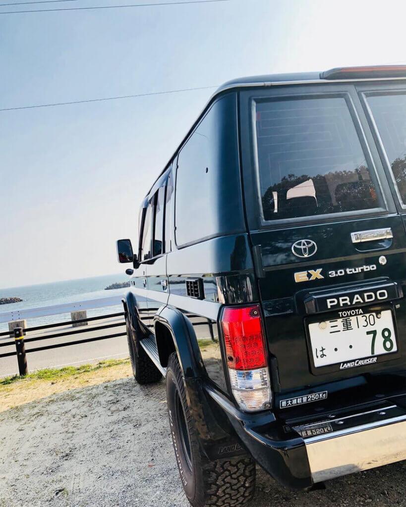Toyota Land Cruiser Prado 78 rear barn door