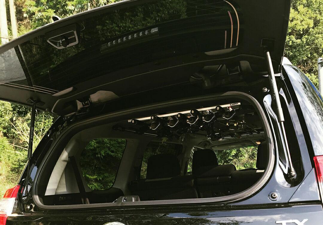 Toyota Prado 150 Tailgate open