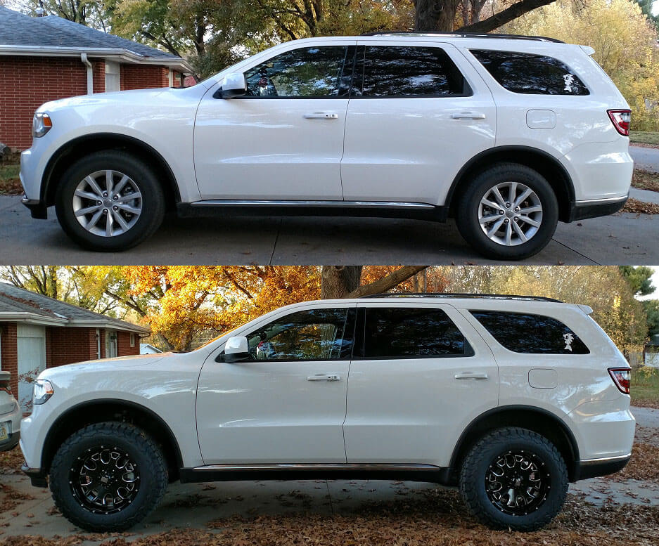 Lifted Dodge Durango 33 inch tires