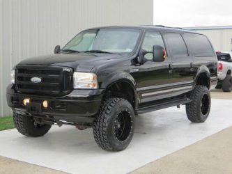 Lifted Ford Excursion 35 inch tires and 6 inch lift