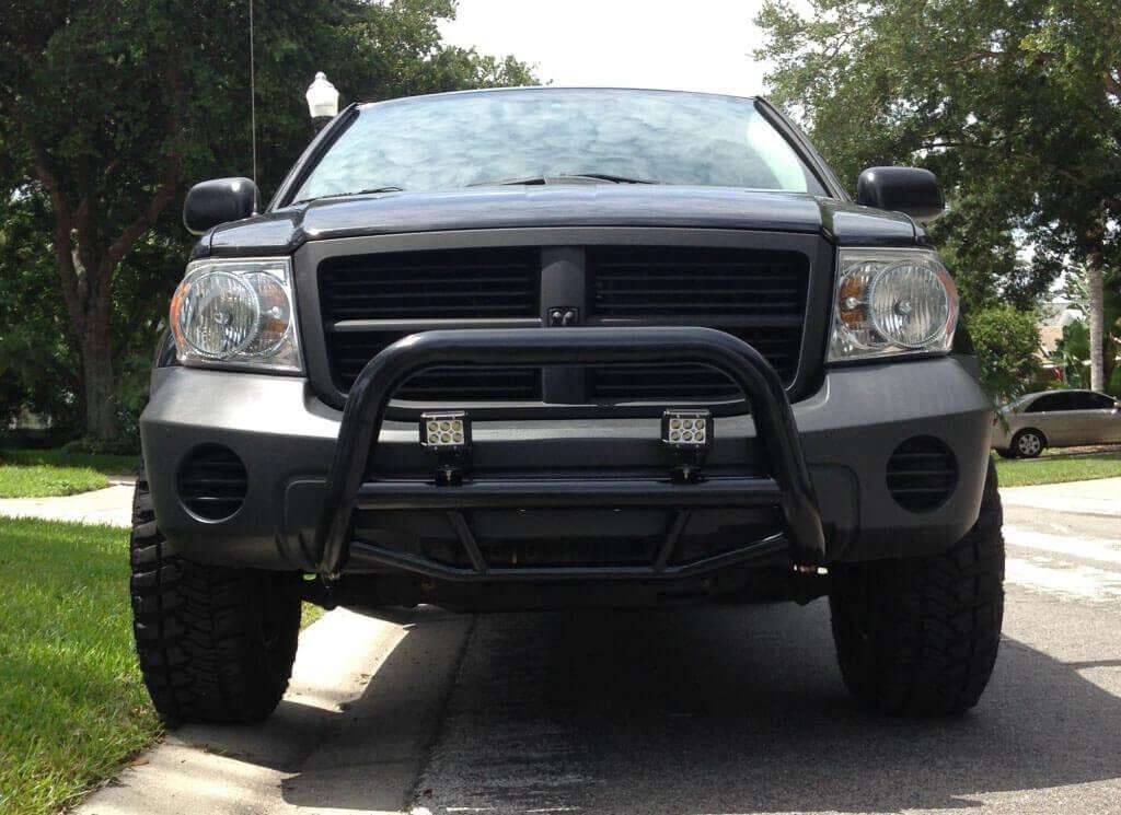 Modified Dodge Durango 2nd gen with a bull bar