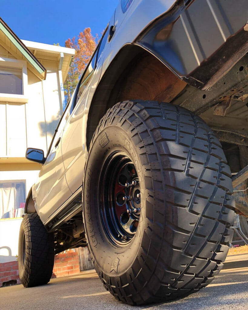 Nissan xterra 35 x 115 R15 offroad wheels General Grabber MT Mud terrain