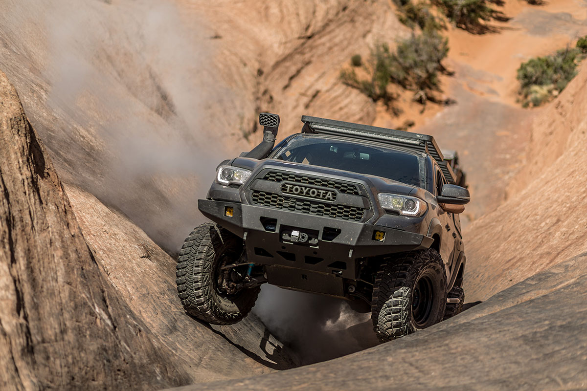 Toyota Tacoma TRD 2016 rock crawler Moab Utah
