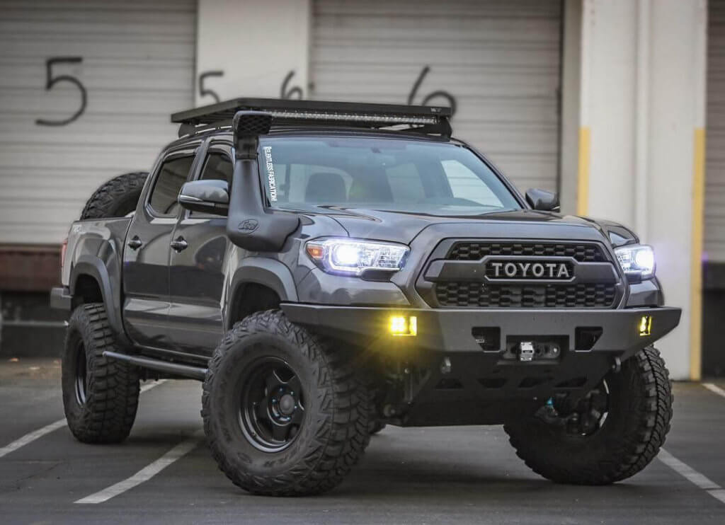 Toyota Tacoma TRD pro with offroad bumper