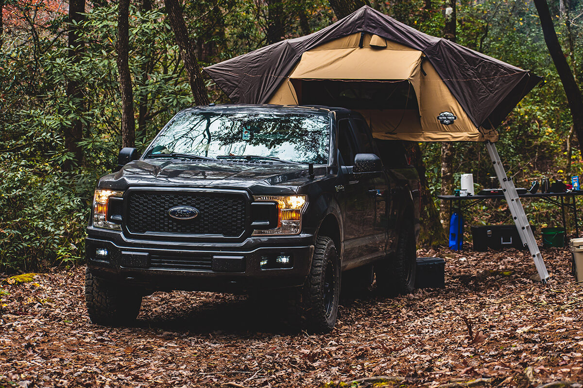 FOrd F150 truck bed mount roof top tent rtt