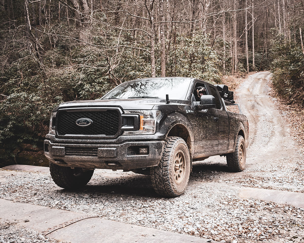 2019 FOrd F150 Cooper ST Maxxs 295/70r18 M/T tires and 5 inch lift