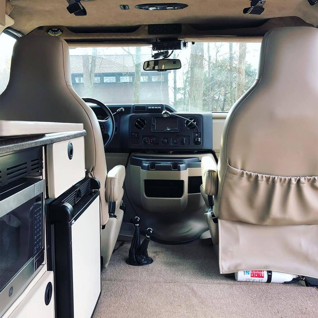 Ford E350 Sportsmobile interior
