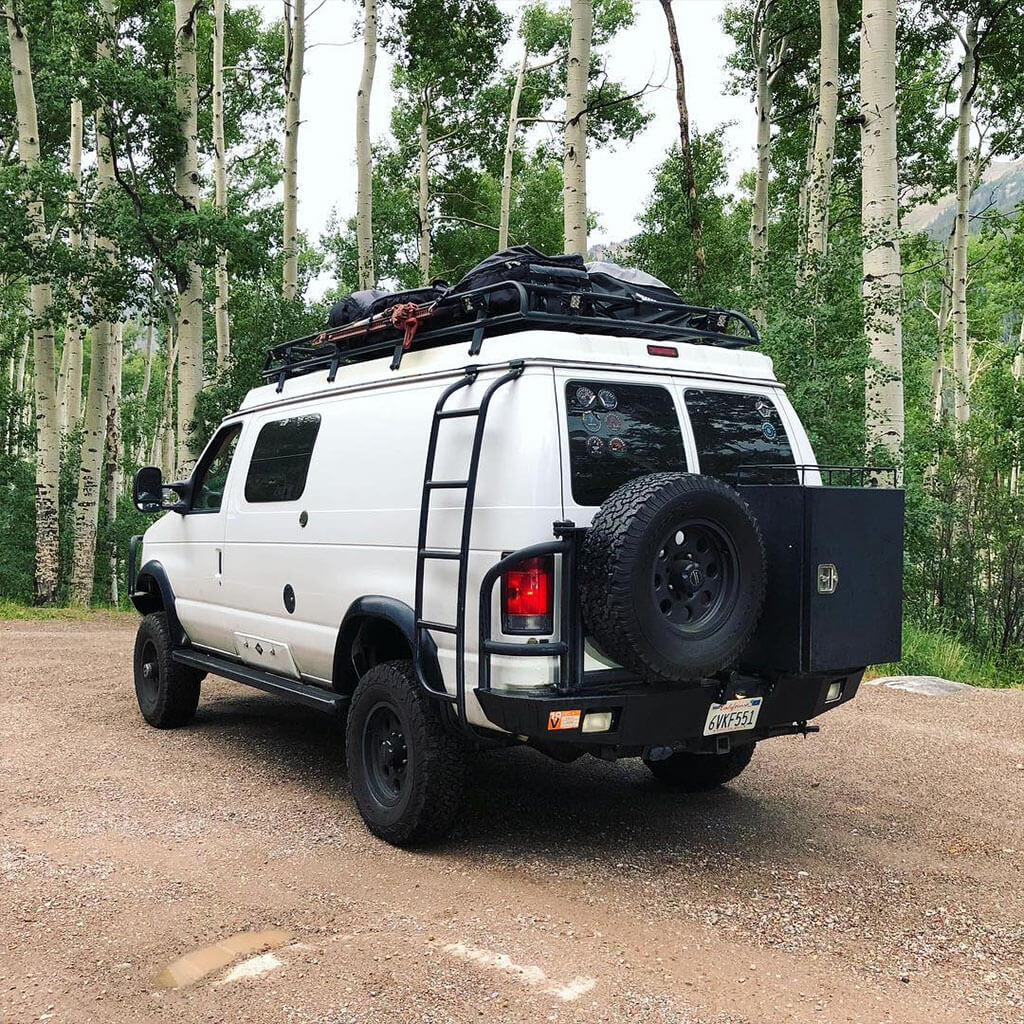 Ford E350 overland roof rack