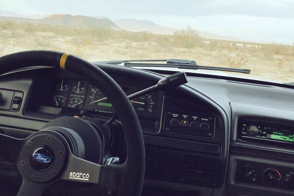 Ford F150 Prerunner interior with OMP sport steering wheel