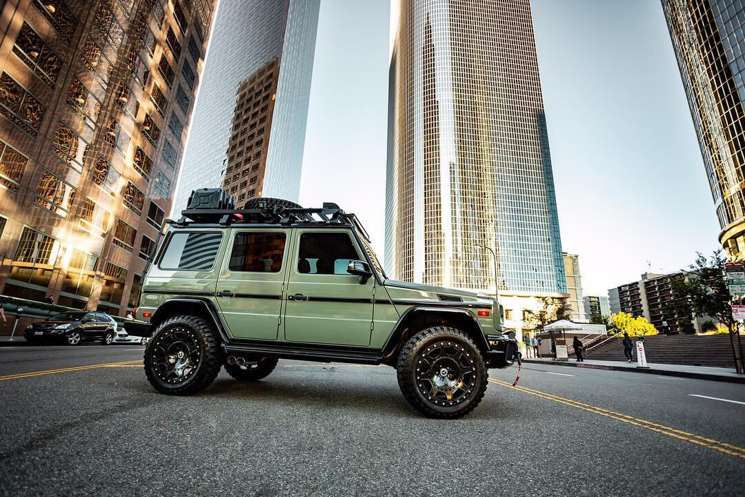 Lifted Mercedes G Wagon with off-road wheels