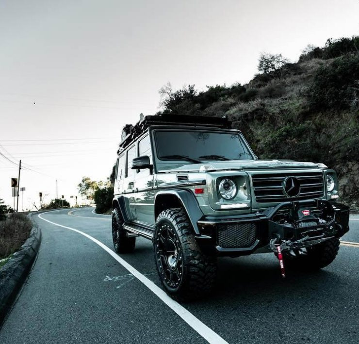 Mercedes G Class w463 with off-road mods