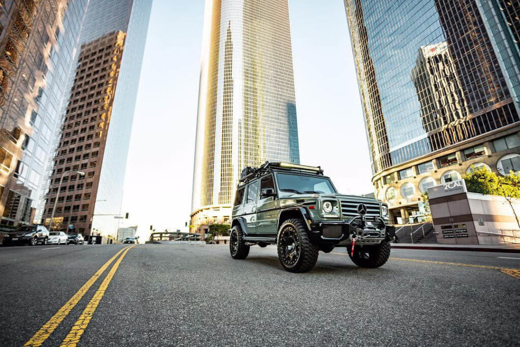 Mercedes G-Class with 2 inch lift and mud tires