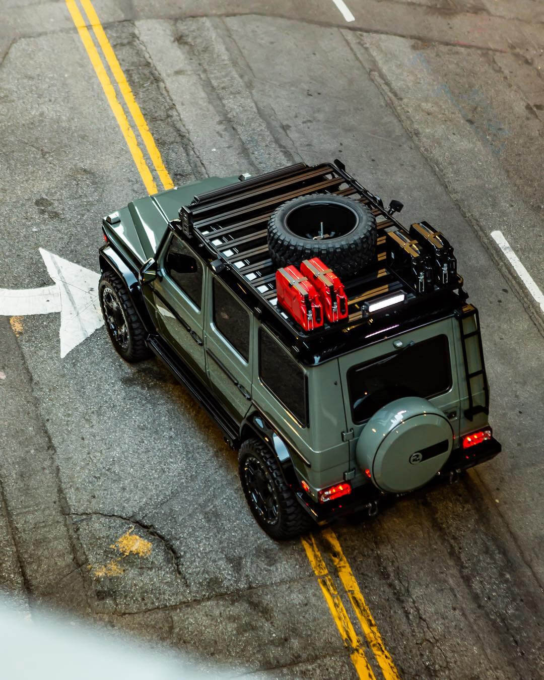 Mercedes G wagon overland roof rack