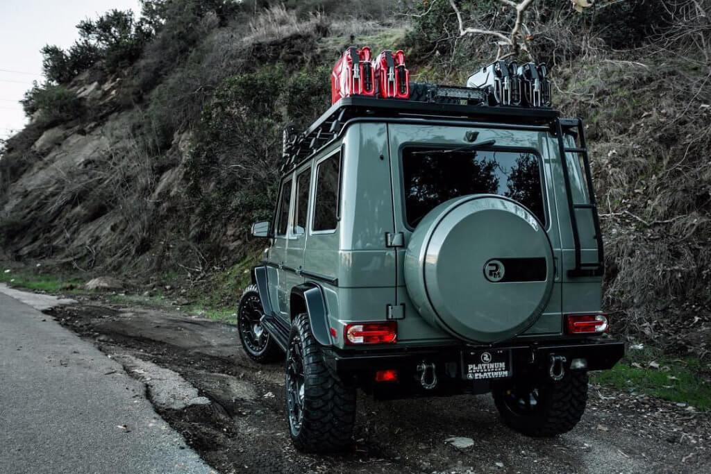 Military green Mercedes G-wagon by Platinum Garage
