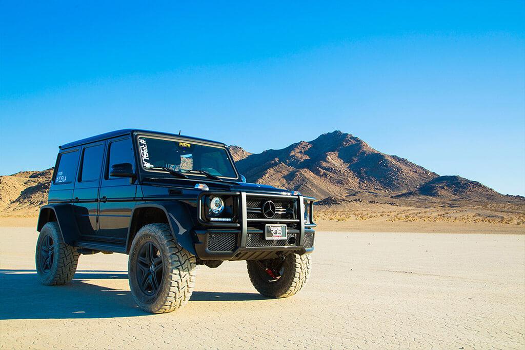 Desert racing in mercedes G63