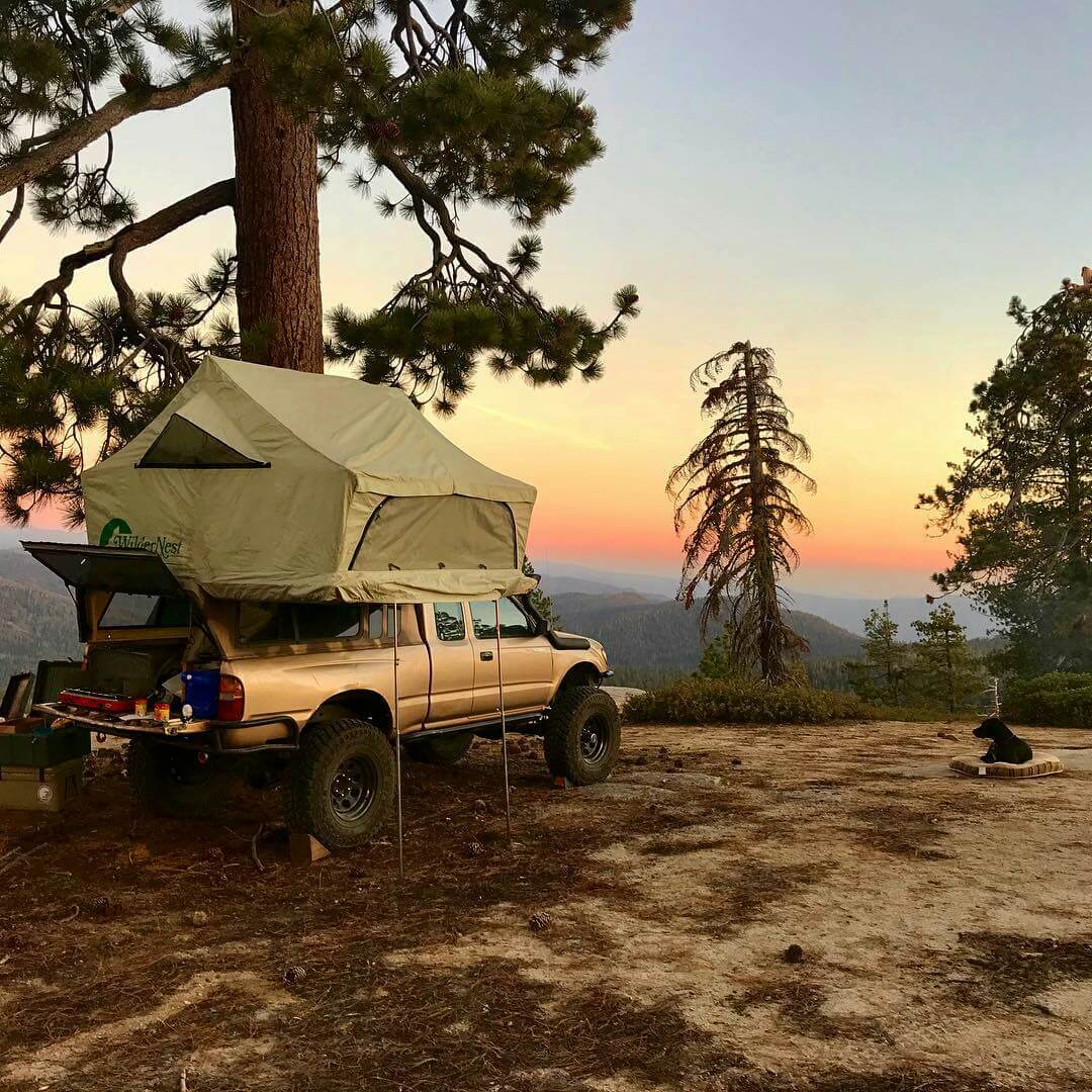 Toyota Tacoma bed mount tent