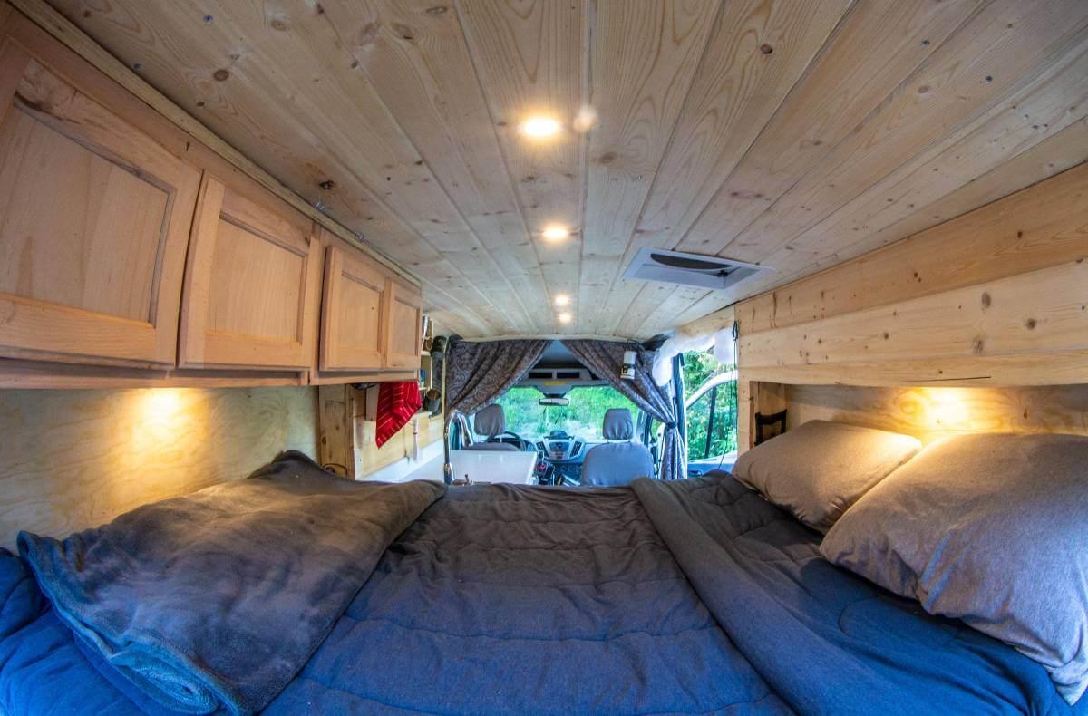 Ford Transit Camper Van Removeable Bed