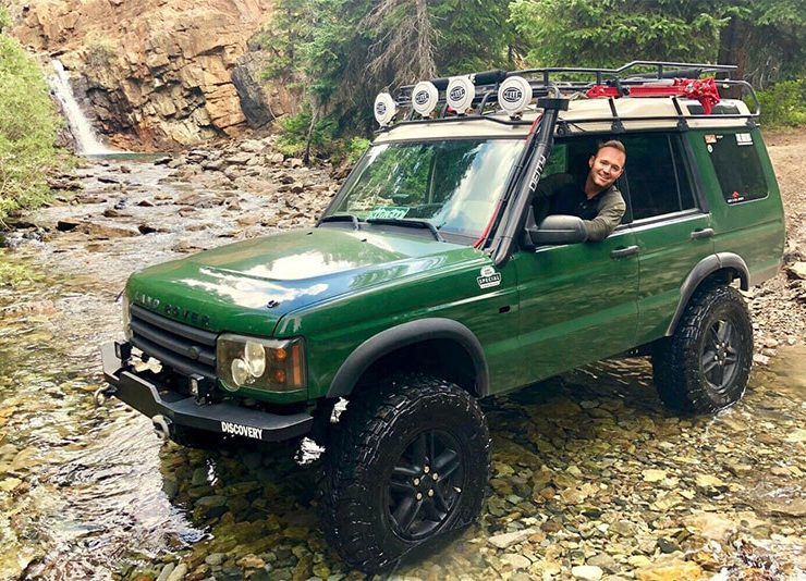 Lifted Land Rover Discovery with overland mods for sale 800