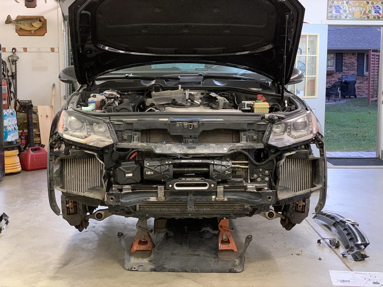 Volkswagen Touareg winch installation