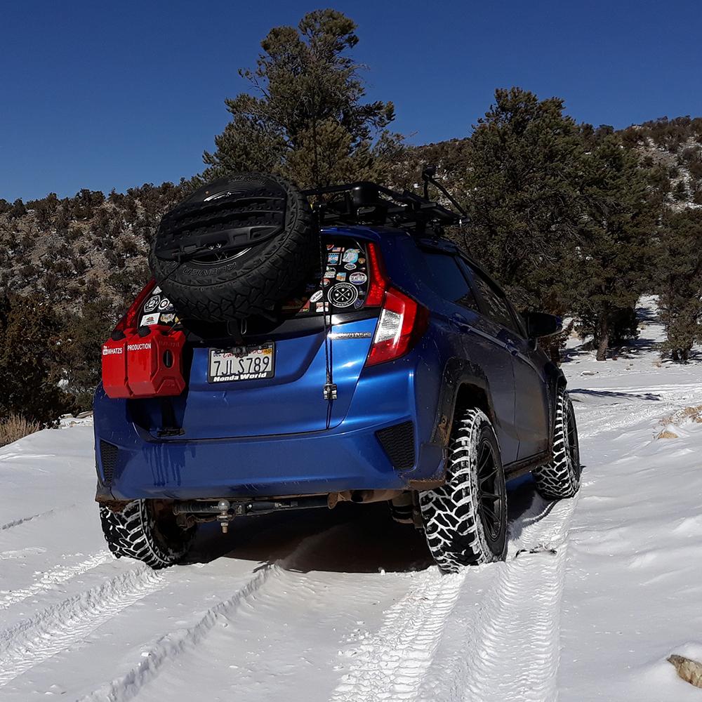 Honda Fit Battlewagon on offroad tires