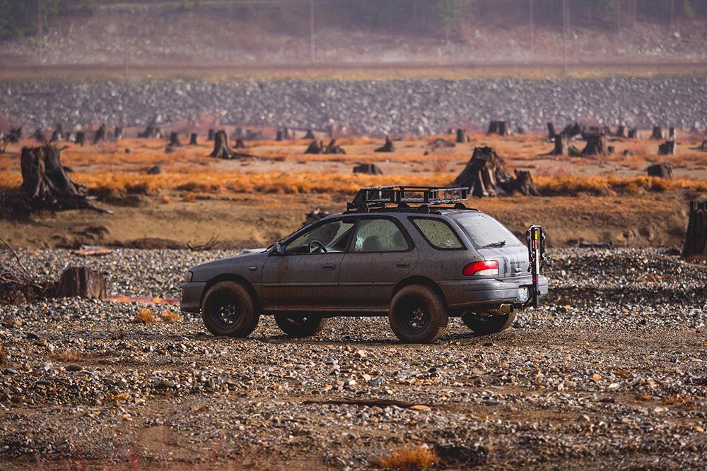 1998 Subaru Impreza Outback wagon roof rack