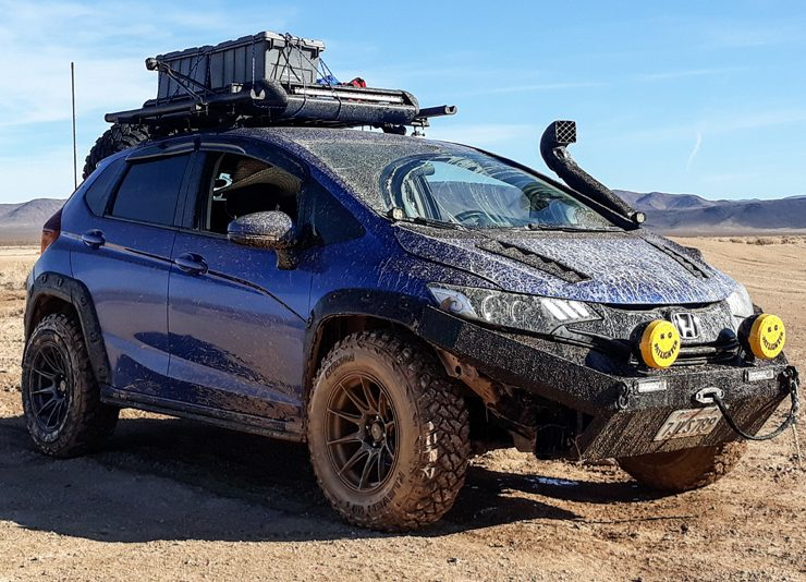 Lifted Honda Fit Battlewagon on Xxr 527 16x8 0 offset and kenda klever mud tire 245 75r16 thumb