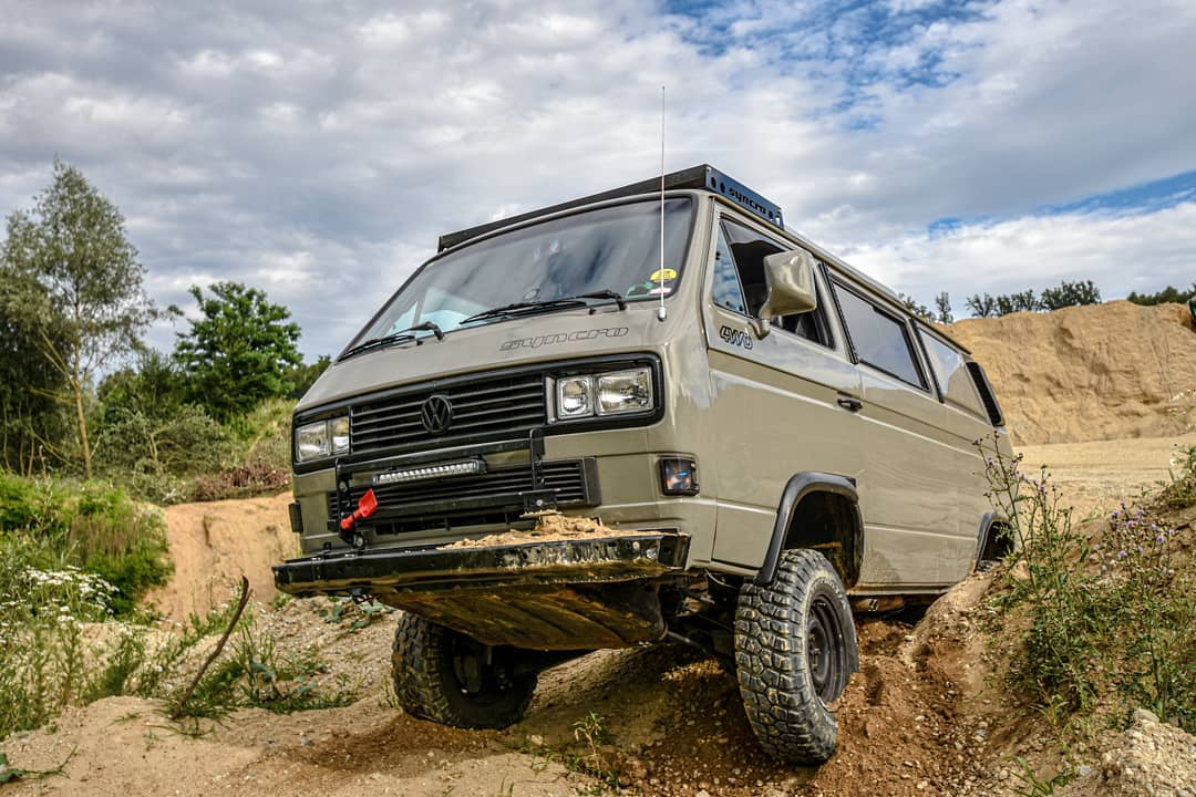 Lifted Volkswagen T3 Transporter Vanagon for Overlanding
