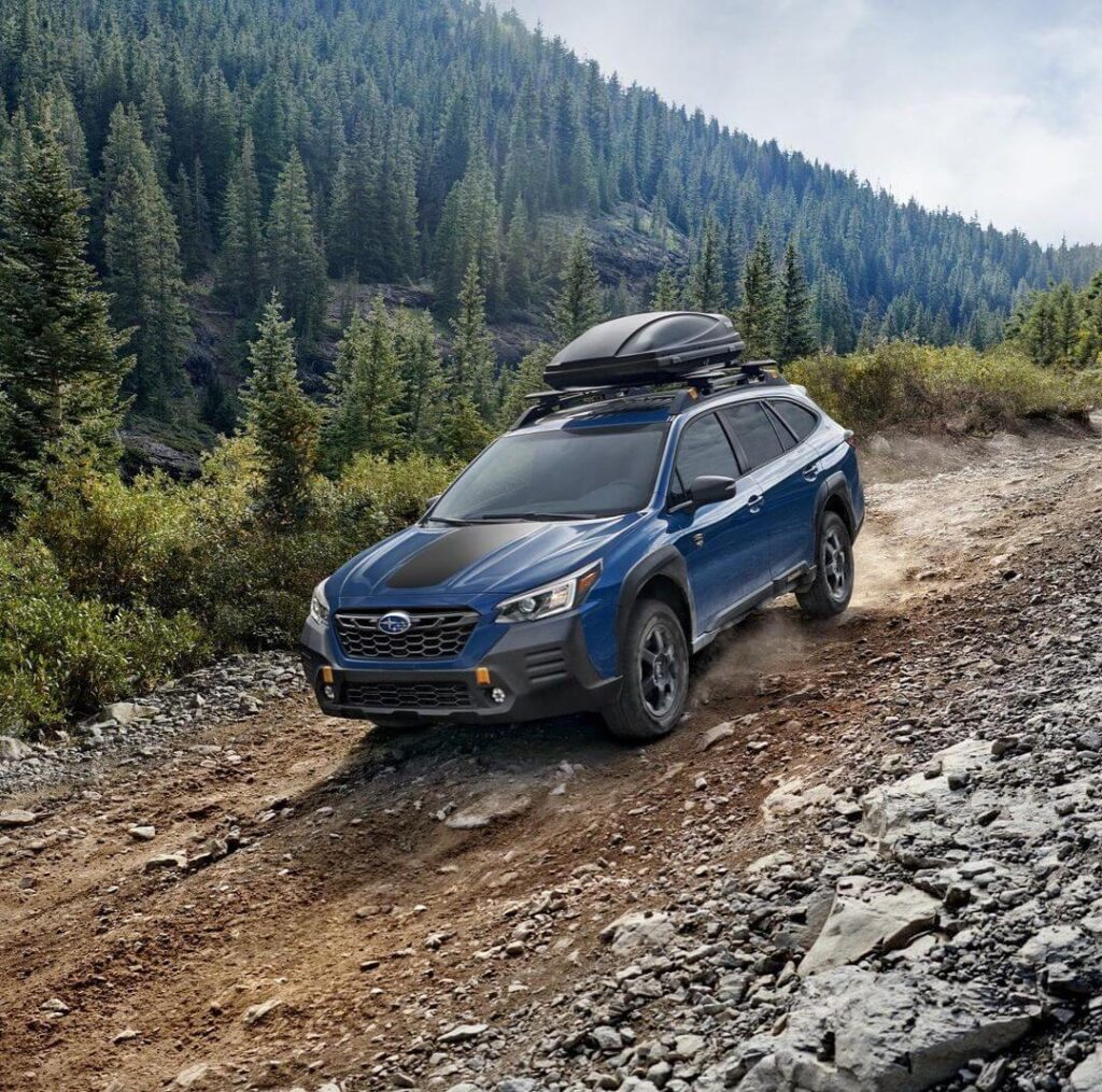 2022 Subaru Outback Wilderness new skid plates and a lift