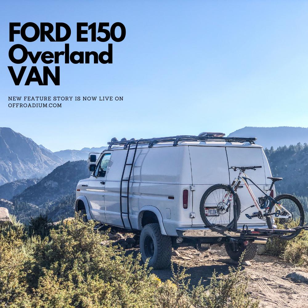Ford E150 Camper van for overland adventures