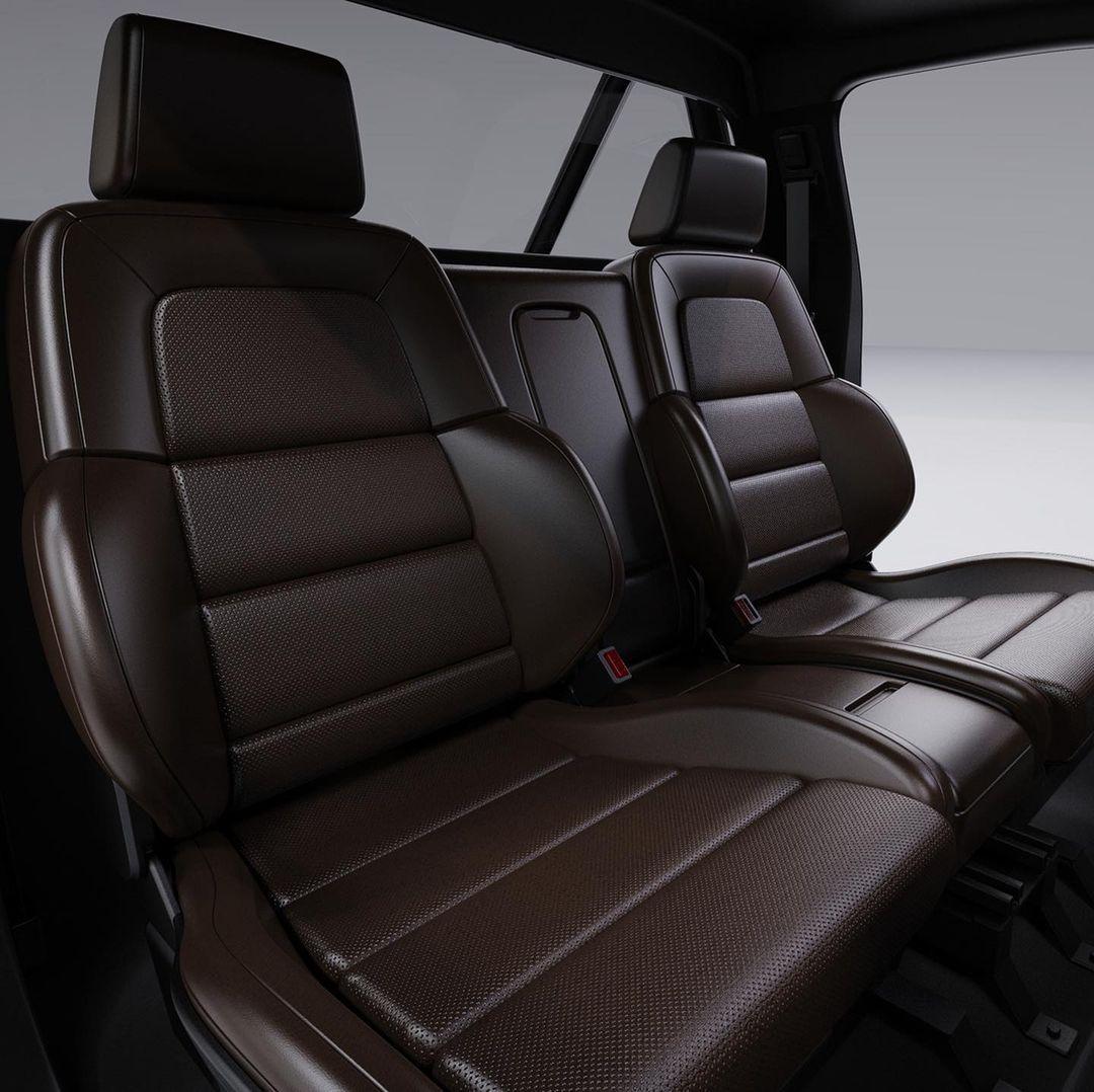 Alpha Motor Corporation WOLF Electric truck recaro-like seats