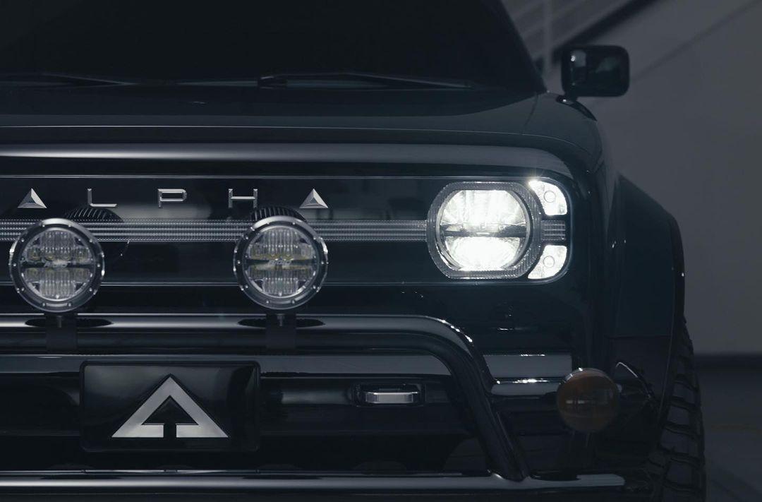Alpha Motor Corporation WOLF bull bar with driving lights