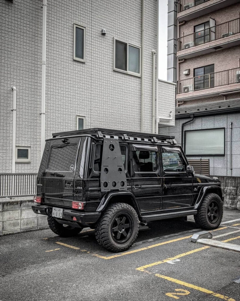 Mercedes G63 with overland style mods