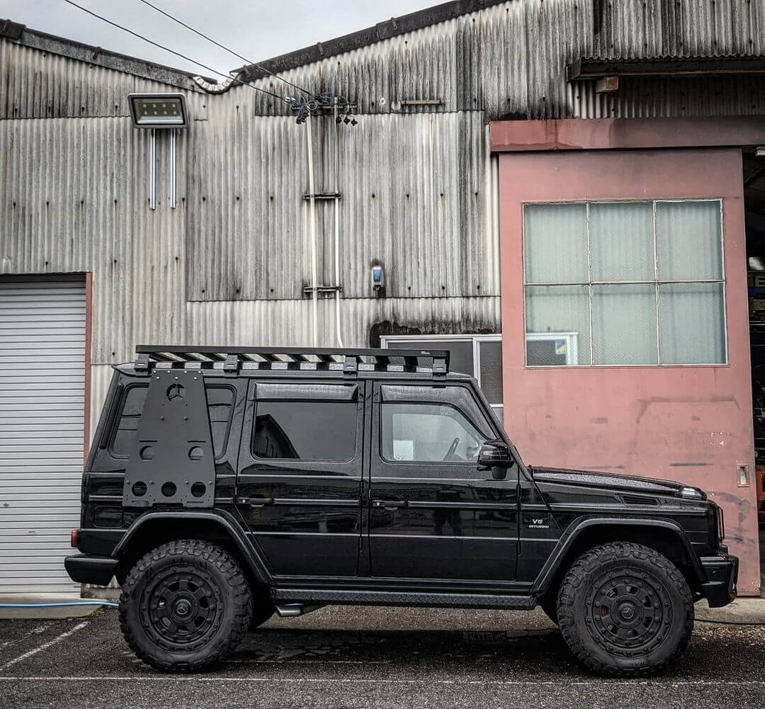 Mercedes G63 with a lift and off-road wheels
