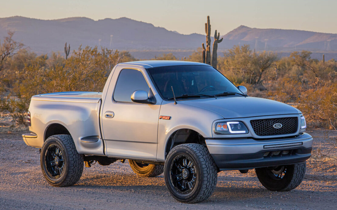 """Supercharged & Lifted Ford F150 Single Cab Stepside """"Better-than-Lightning"""""""