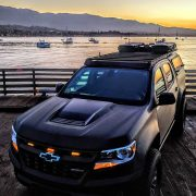 Black Chevy Colorado ZR2 overland project truck