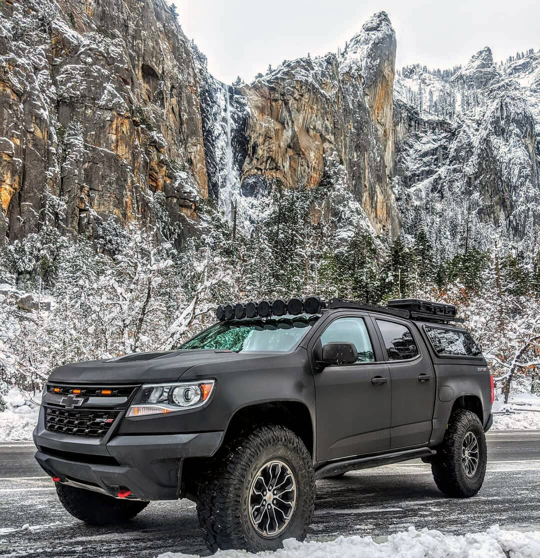 Chevy Colorado ZR2 on 37×12.5 Patagonia milestar Mud Tires M/T