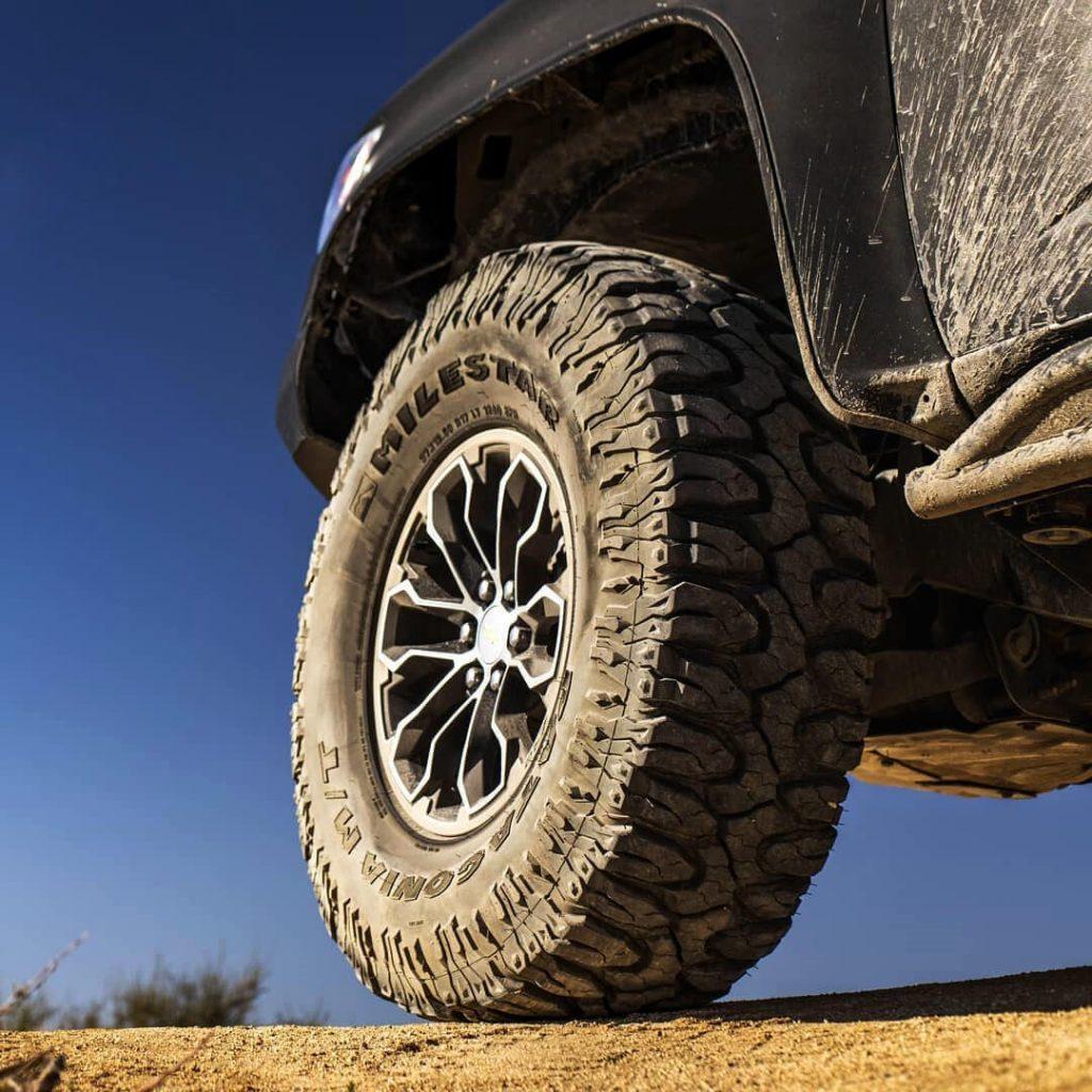 Beefy 37×12.5 Patagonia milestar Mud Tires