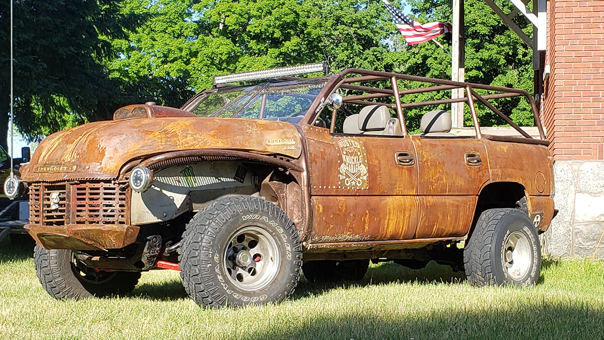 Rat rod with off-road tires