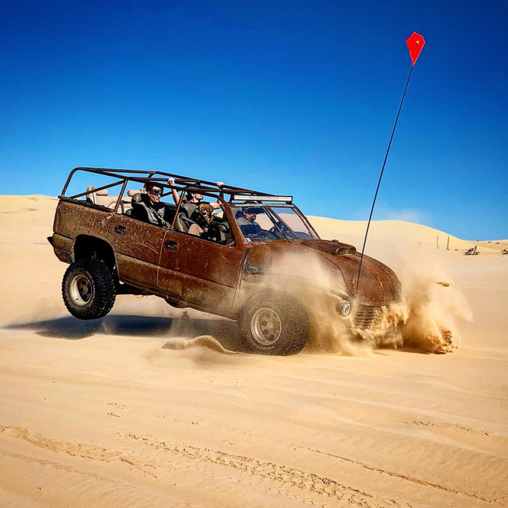 Dune buggy jumping