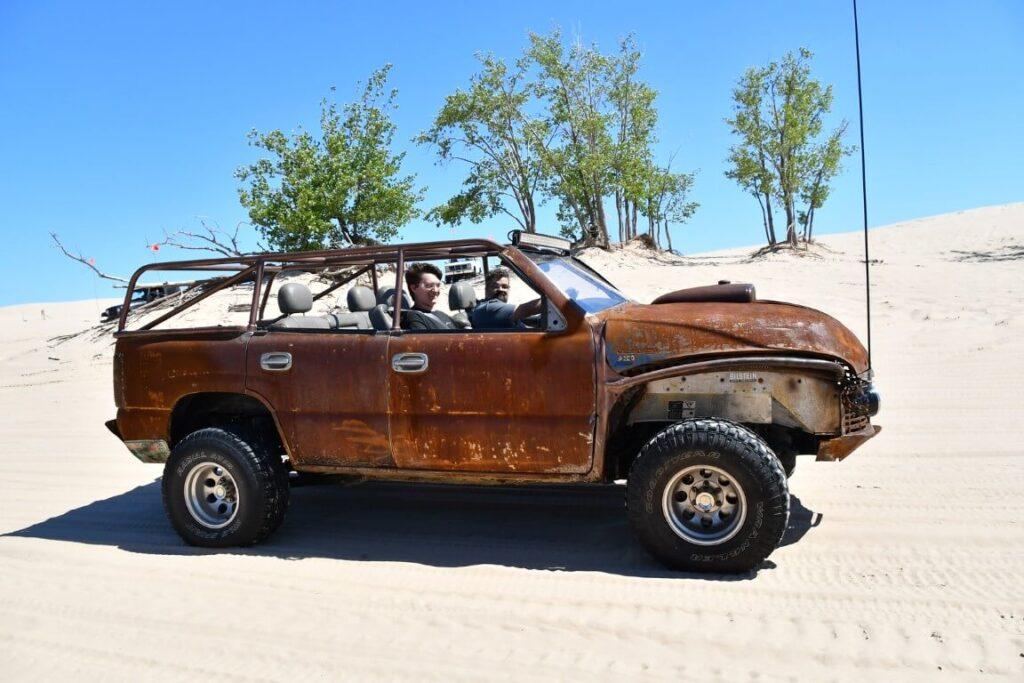 Rusted dune buggy