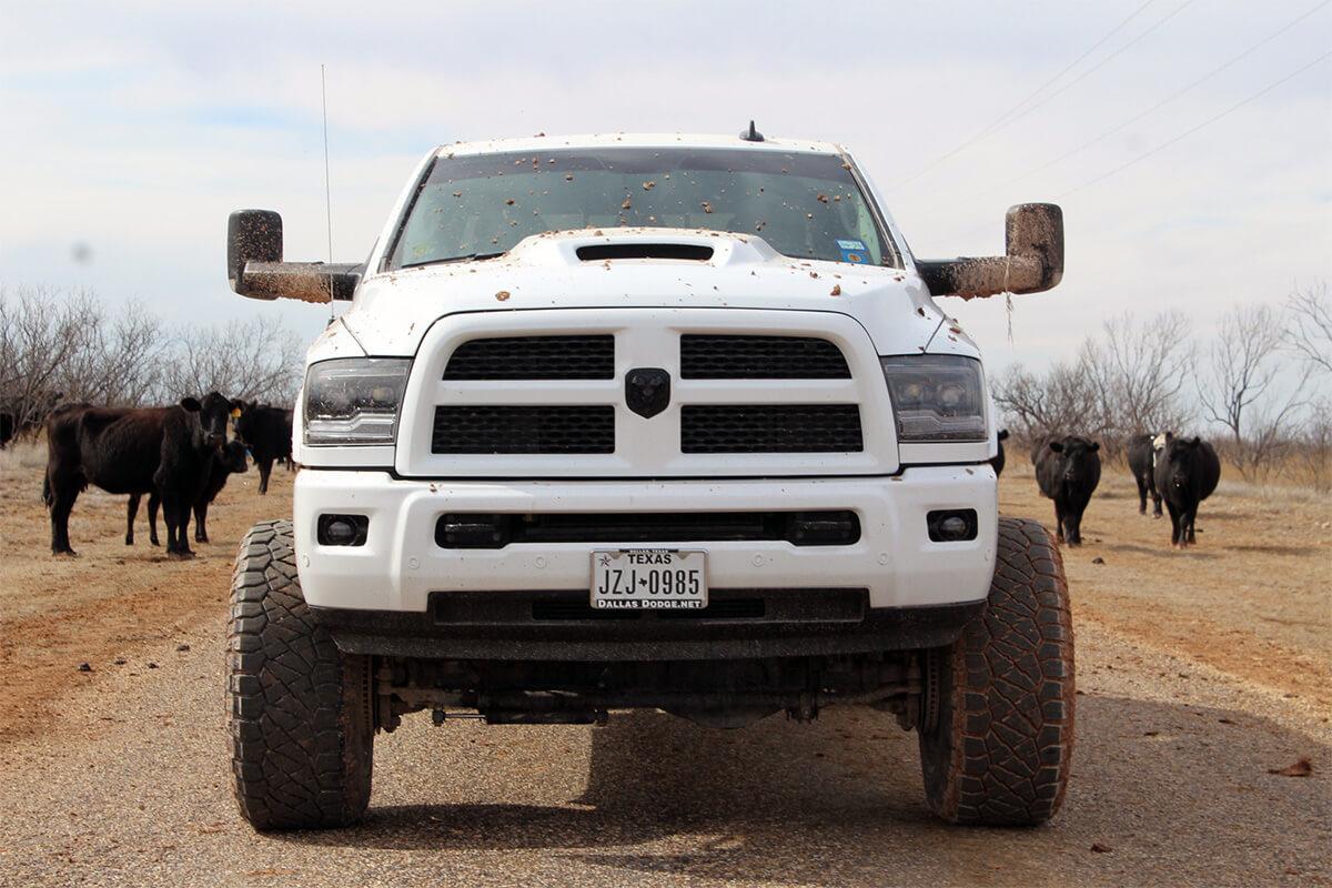2017 Ram 2500 Cummins diesel with 6.5 inch Zone off-road lift