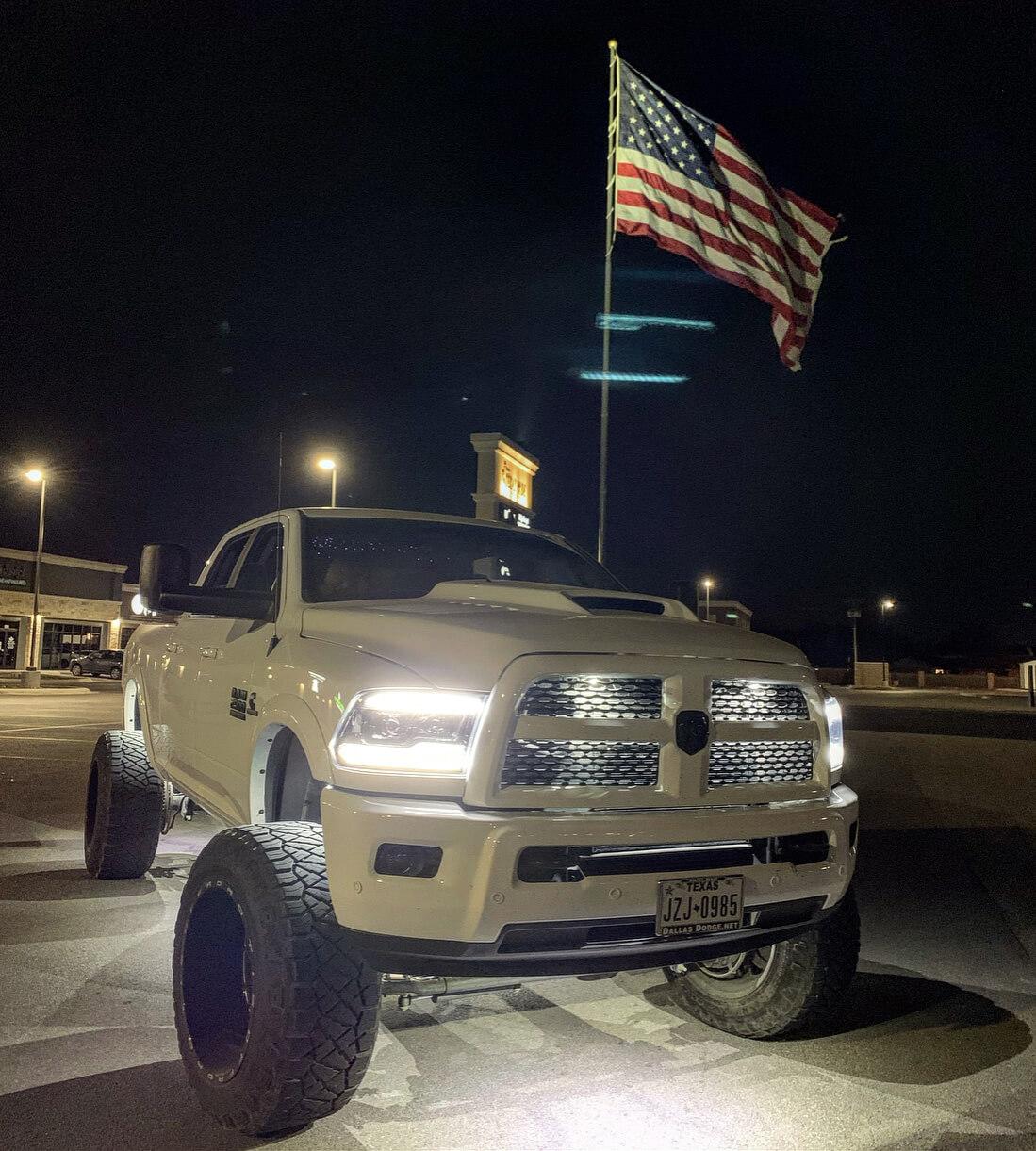 Dodge Ram custom LED headlights by Morimoto