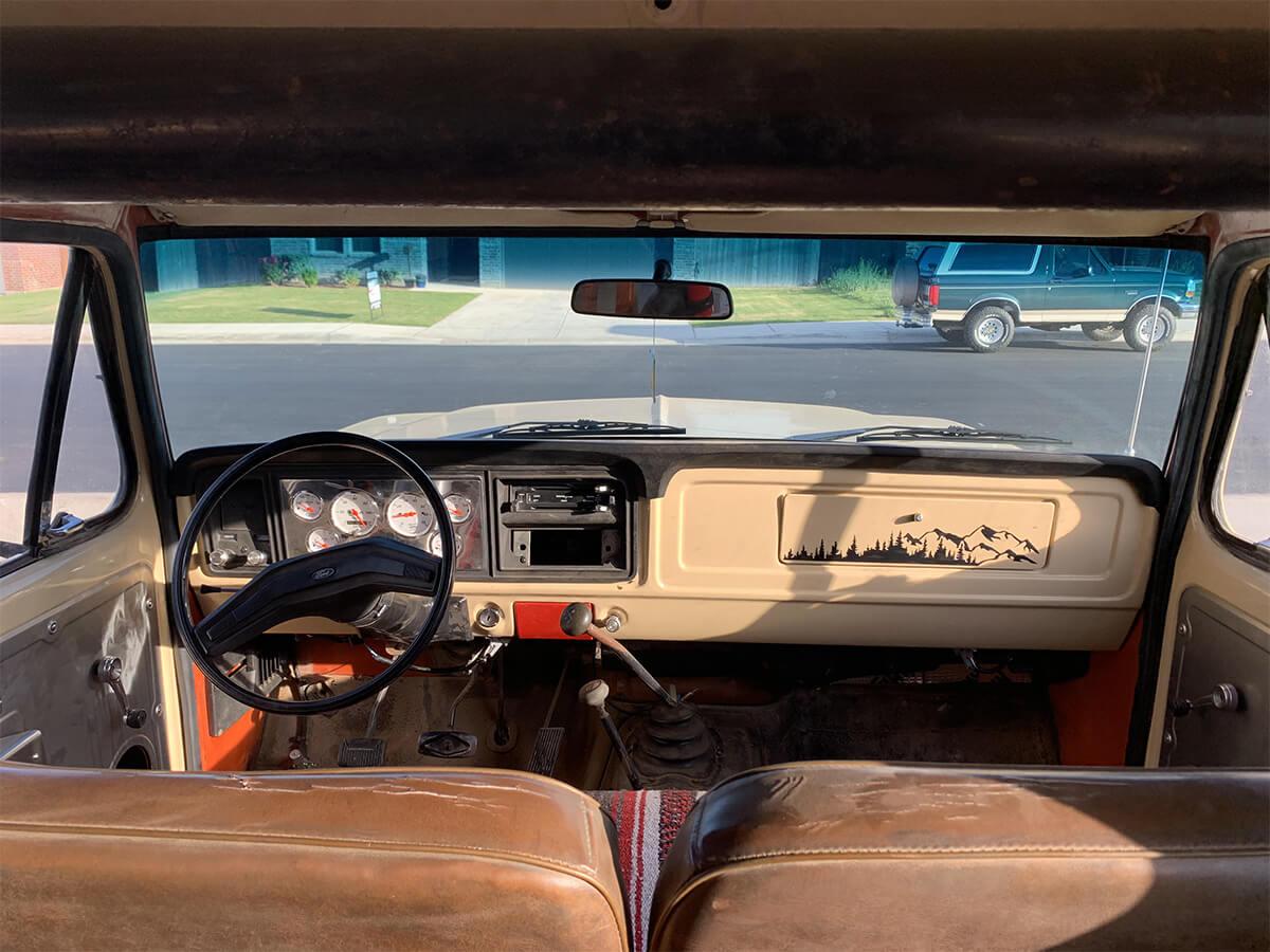 Full size Bronco interior
