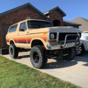 Restored and Lifted Full-Size Ford Bronco on 35 Inch Tires