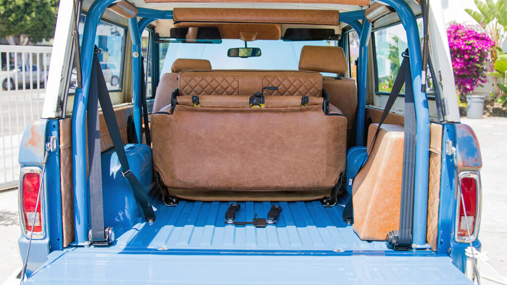 Ford Bronco brown leather interior