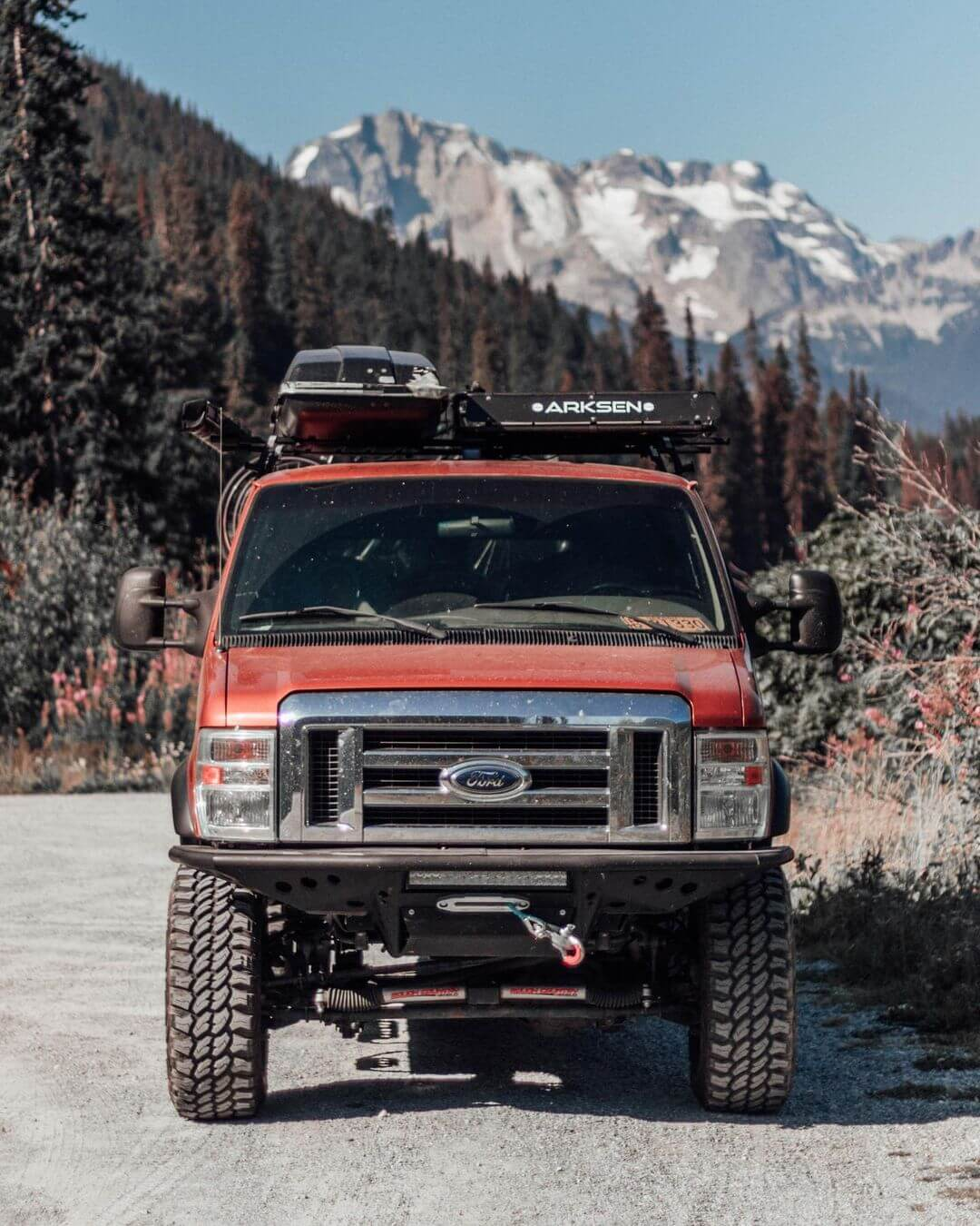 Ford E350 custom winch bumper