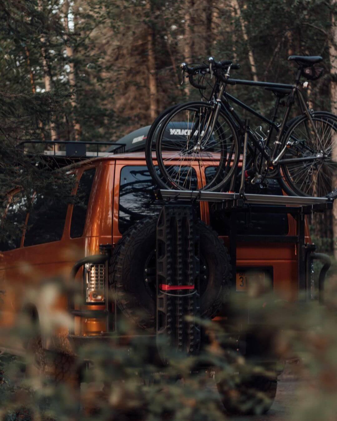 Camper van bike carrier