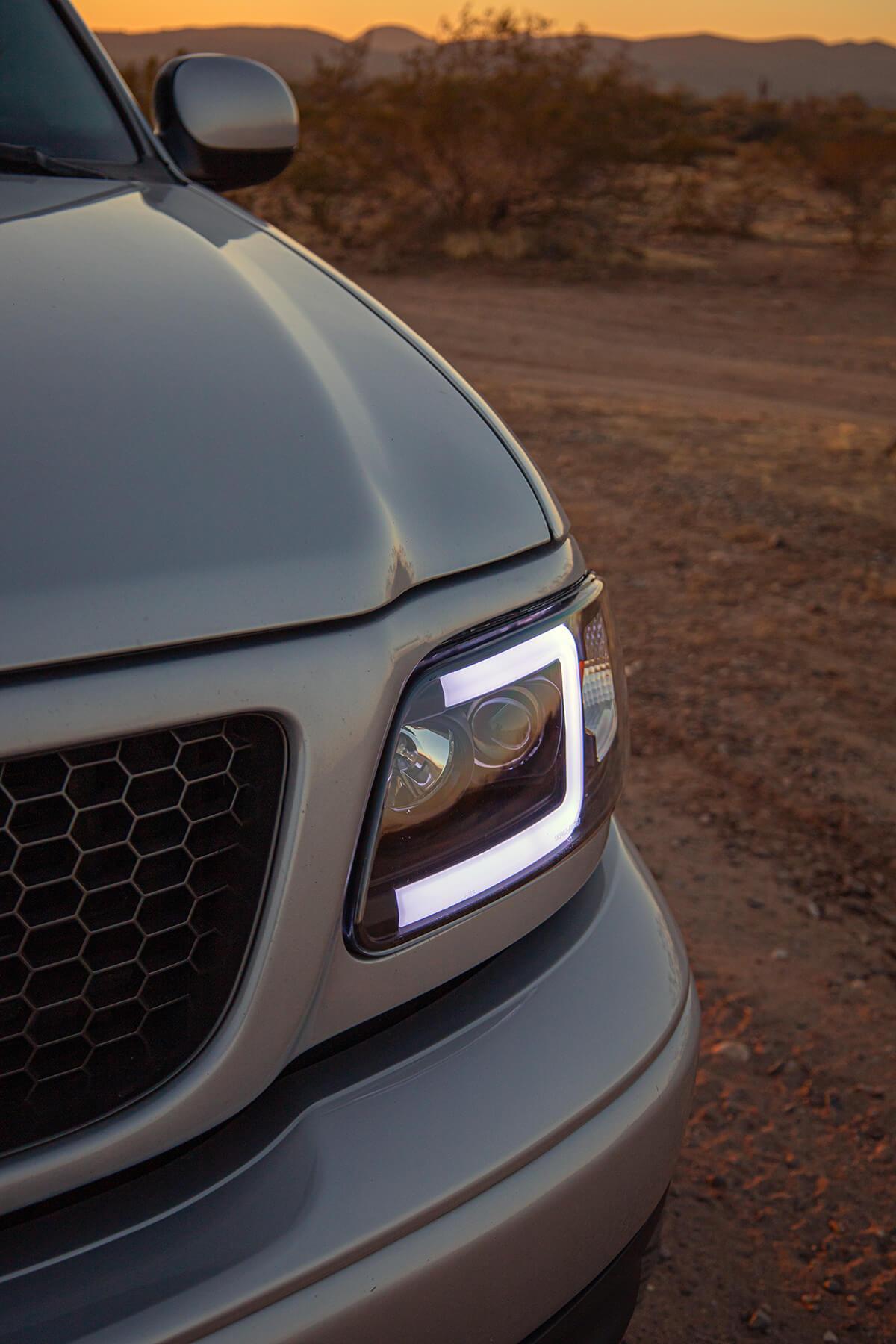 Spyder black custom headlights